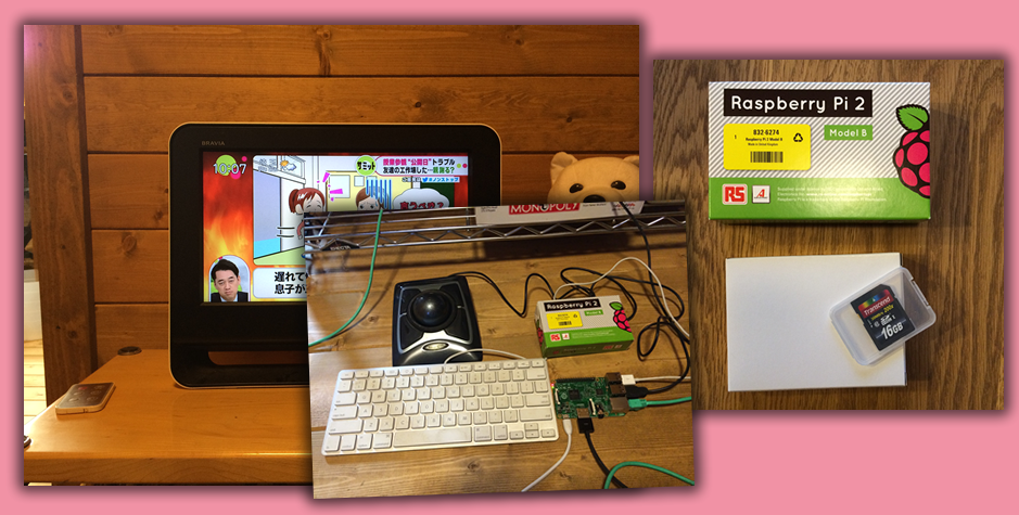 Raspberry Pi 2 Model B 購入。必要な機器を用意して接続しました!