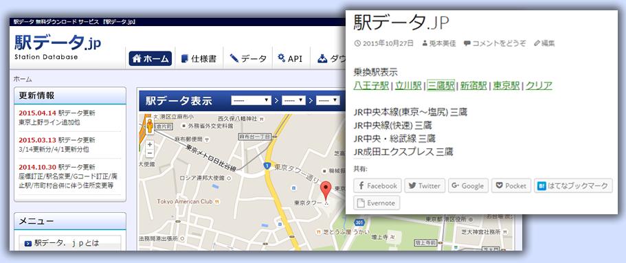 公共機関APIの駅データ.jpで乗換駅表示をWordPressで表示してみた