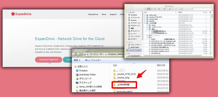 クラウドストレージを外付けメディアのようにマウントできるExpanDriveを試す