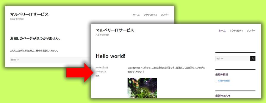 別のCMSなどからWordPressにしたときページNotFoundの対処法