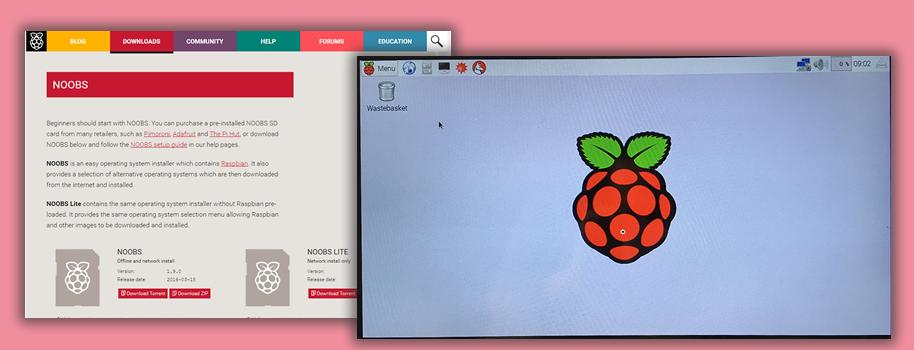 Raspberry Pi 3 Model B の設定。OSを入れてWebサイト表示ができるまで