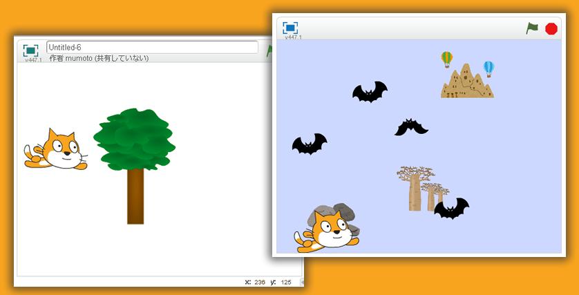 子供向けプログラミングツールScratchで「ねこ飛び」を作ってみました